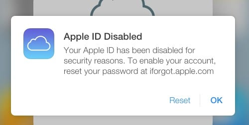 How to solve - Apple ID Disabled