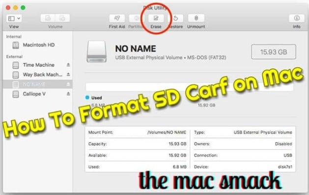 2 methods to guide you how to format sd card on mac