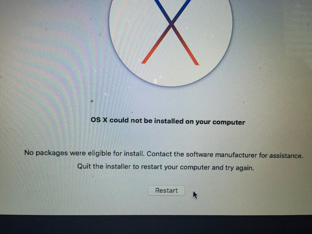MacOS Could not be installed