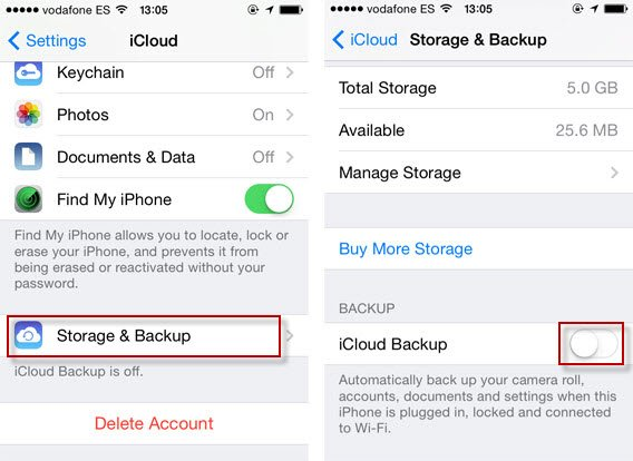 iPhone photos backup