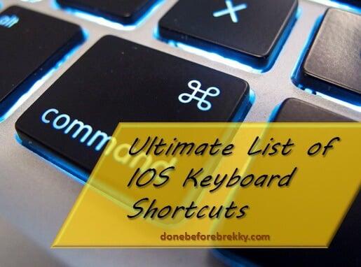 22 Chrome for iPad Keyboard Shortcuts