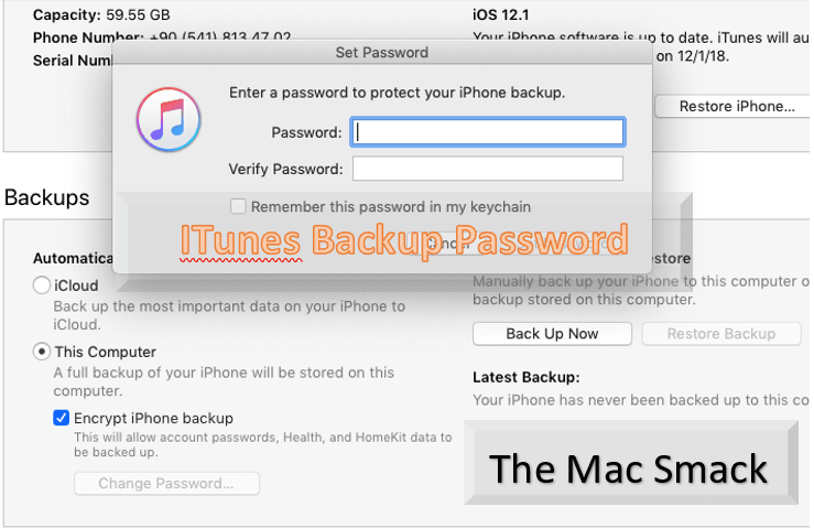 iTunes Backup Password - Easy Fix